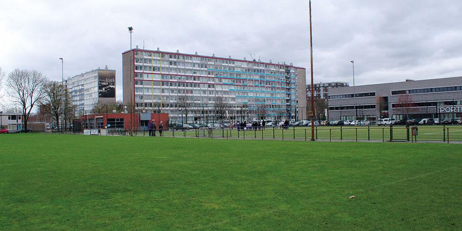 Het sportpark van vv Onder Ons in de multi-etnische stadswijk Overvecht in Utrecht.